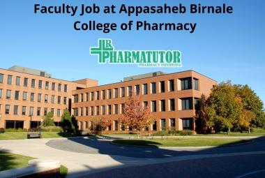 Faculty Jobs at Appasaheb Birnale College of Pharmacy