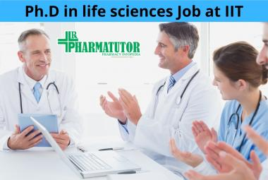 Vacancy for Ph.D in life sciences at Indian Institute of Technology
