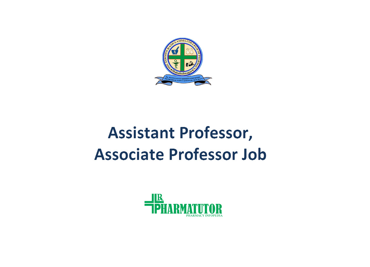 Vacancy for Assistant Professor, Associate Professor at SSRCP