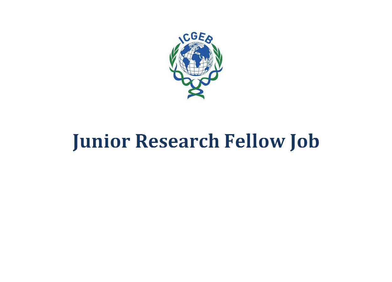 Vacancy for Junior Research Fellow at DBT-ICGEB Centre
