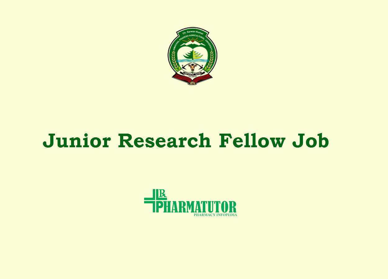 Vacancy for Junior Research Fellow at Himachal Pradesh Krishi Vishvavidyalaya