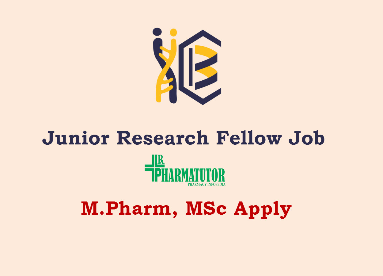 Vacancy for Junior Research Fellow at IICB | M.Pharm, MSc