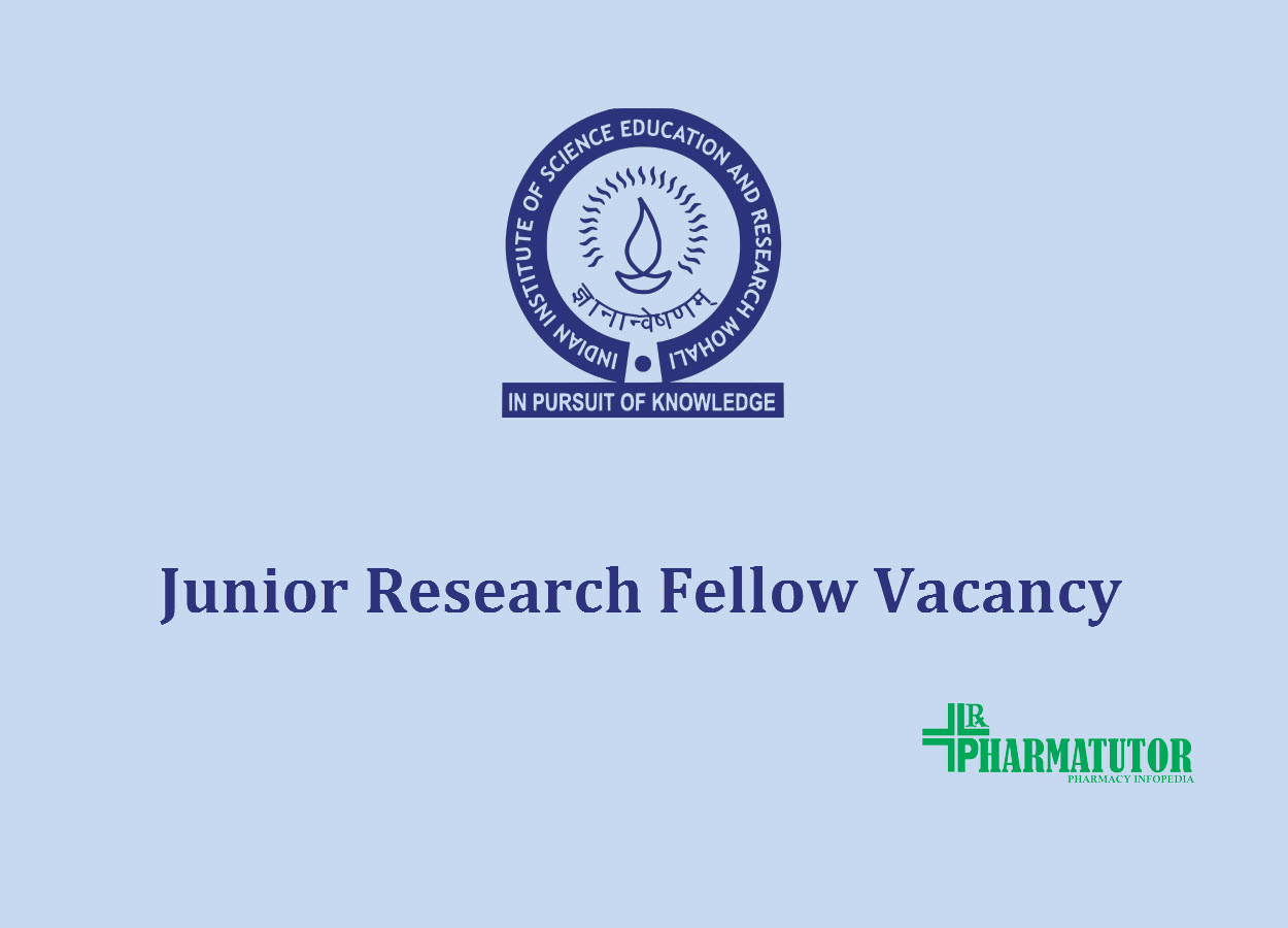 Vacancy for Junior Research Fellow at IISER