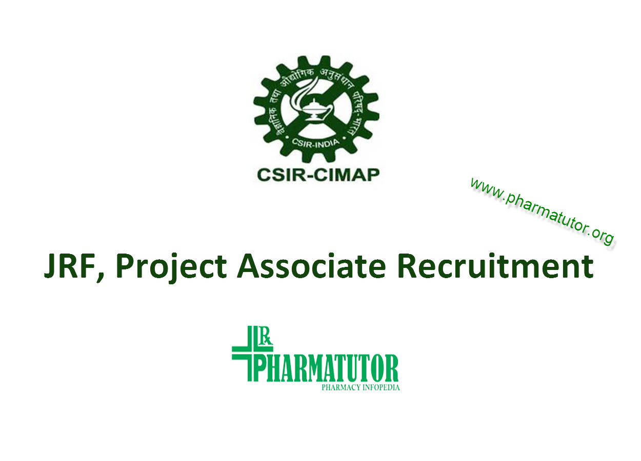 Vacancy for Junior Research Fellow, Project Associate at CIMAP