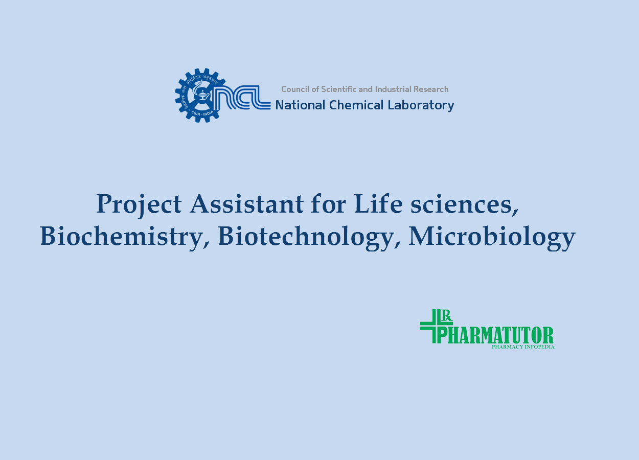 Application for post of Project Assistant at NCL
