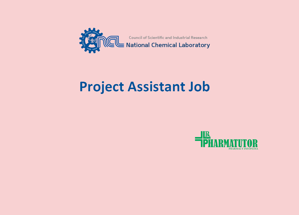 Vacancy for Project Assistant at National Chemical Laboratory