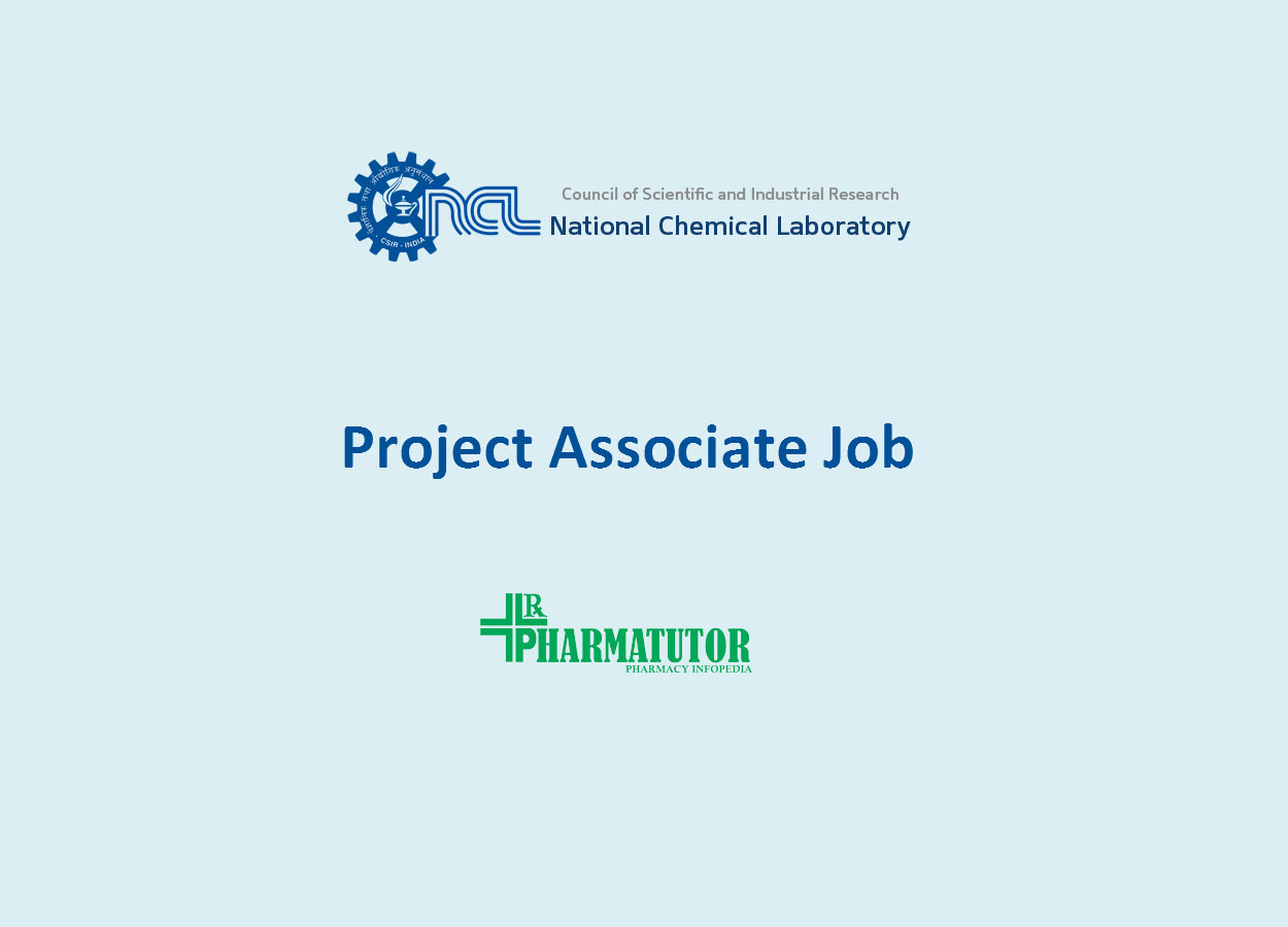 Vacancy for Project Associate at National Chemical Laboratory