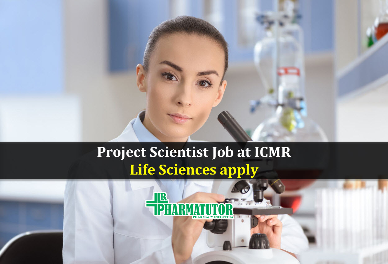 Vacancy for Project Scientist at ICMR